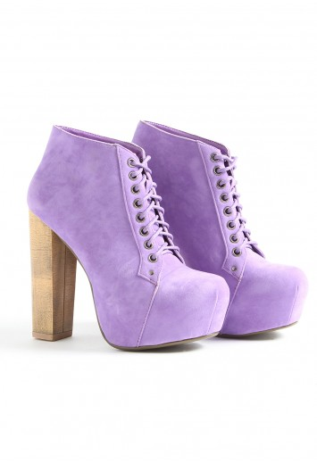 Prepare To Be Seen In These Suede Lilac Boots