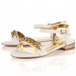 Topshop Bargain: White & Gold Chained Sandals