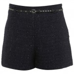 Fashion Pick Of The Day: Navy Boucle Shorts