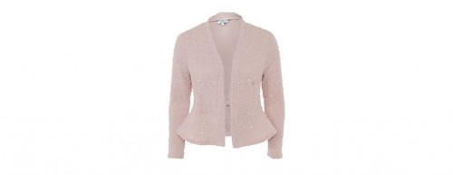 Fashion Pick Of The Day: Pink Sequin Peplum Jacket
