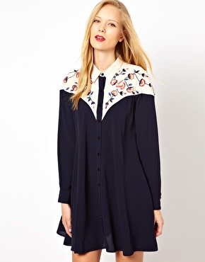 Fashion Pick Of The Day: Embroidered Shirt Dress