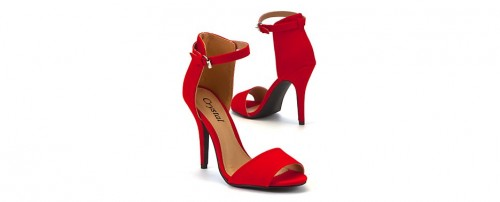 Fashion Pick Of The Day: Red Ankle Strap Sandals