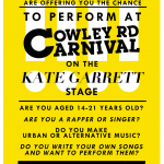 Today's Deadline Day! Don't Miss Your Chance To Perform Your Music At Oxford's Carnival