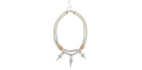 Fashion Pick Of The Day: Cream Spike & Rope Necklace