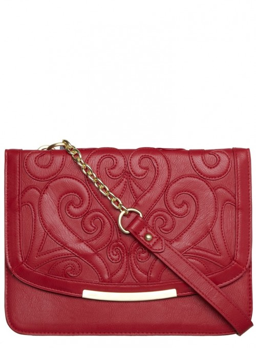 Fashion Pick Of The Day: Red Patterned Shoulder Bag