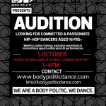 AUDITION ALERT: Don't Miss Your Chance To Join The Body Politic Family
