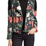 Fashion Pick Of The Day: Quilted Panel Floral Biker Jacket