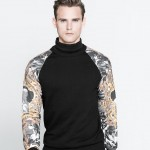 Men's Fashion Corner: Sweatshirt With Printed Sleeves