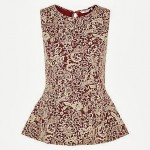Fashion Pick Of The Day: Paisley Jacquard Peplum Top