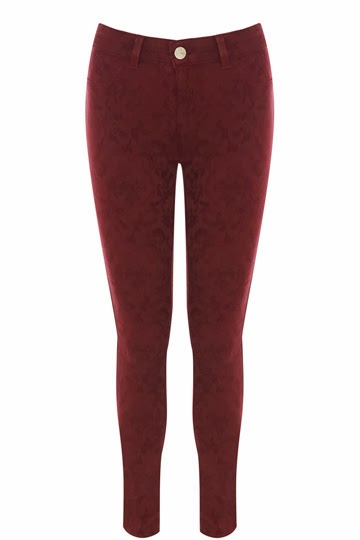 Fashion Pick Of The Day: Jacquard Jade Superskinny Jeans