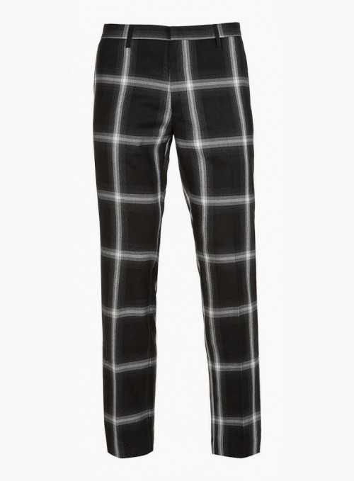 Men's Fashion Corner: Grey Checked Skinny Trousers
