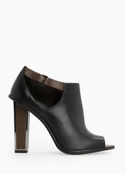 Fashion Pick Of The Day: Peep Toe Leather Ankle Boots