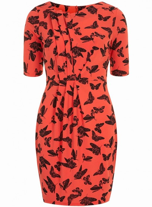 Fashion Pick Of The Day: Coral Butterfly Crepe Dress
