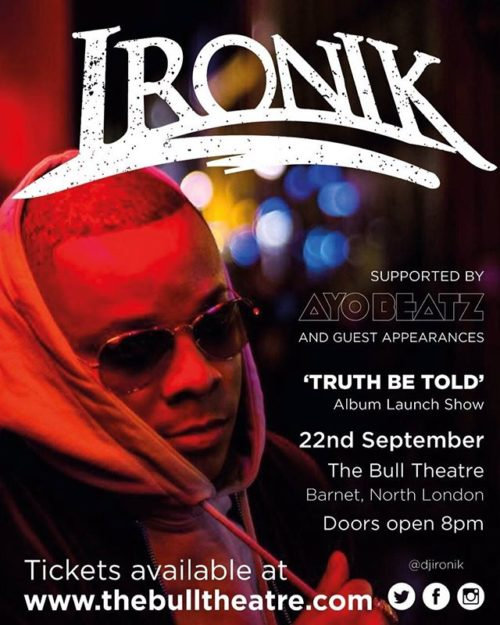 Ironik hosts album launch party to celebrate, Truth Be Told, release