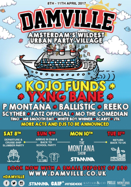Kojo Funds & Yxng Bane to perform at Damville weekender!