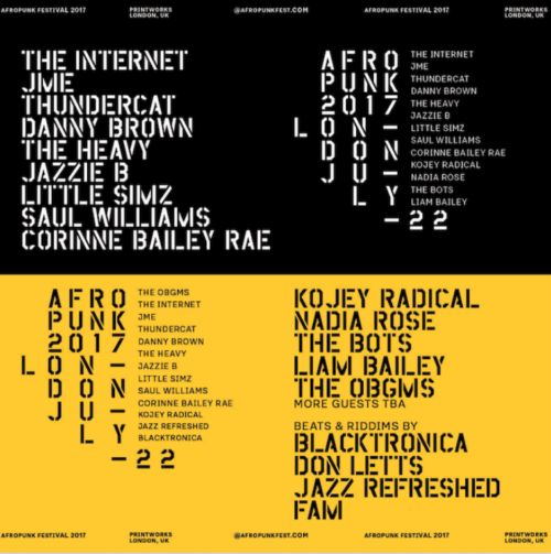 The AFROPUNK weekender returns with a line up not to be missed!